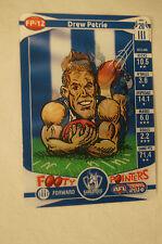 NORTH MELBOURNE KANGAROOS - Footy Pointers Card - Drew Petrie