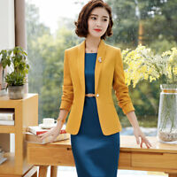 Fall Office Lady Women Business OL Formal Work Uniform Blazer And Dress Suits