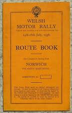 WELSH RALLY MOTORE NORWICH percorso iniziale Book 14 - 18 luglio 1936