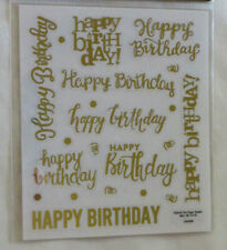 Sticker Sheets HAPPY BIRTHDAY GOLD FOIL SCRIPT - Pack of 2 Sheets Paper Studio