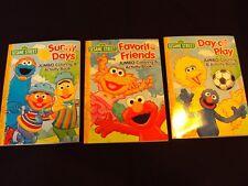 New Lot Of 3 Sesame Street Jumbo Coloring & Activity Books Girl/Boys Kids Bert