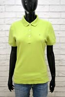 TOMMY HILFIGER Polo Manica Corta Maglia Verde Donna Taglia L Shirt Women's