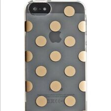 Kate Spade NEW YORK Snap On Case for Apple iPhone 5 5S Gold Polka Dots NWB