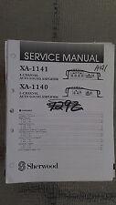 Sherwood xa-1141 1140 service manual original repair book stereo power amp