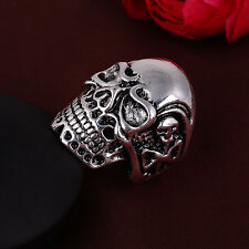 Jewelry Men's 316l stainless steel Fashion Punk design Skull ring US size11 T17