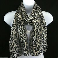 Leopard Women's Animal Print Scarf Novelty Rectangle Gift Fashion Scarves