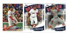 Lot of three Mookie Betts baseball cards, Boston Red Sox, free shipping!