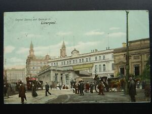 Merseyside LIVERPOOL Central Railway Station & Ranleigh St. c1903 Postcard