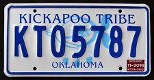 Oklahoma KICKAPOO TRIBE NATION OK Indian Native American Specialty License Plate