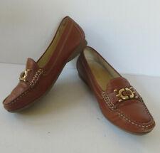 GEOX ° bequeme Halbschuhe Gr. 37 ½ braun Leder Damen Schuhe Slipper Mokassins