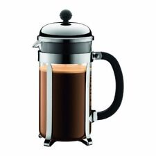 Bodum CHAMBORD Coffee & Tea Maker French Press Stainless Steel Heat-Resistant in