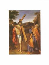 Postcard Annibale Carracci Christ Appearing to St Peter on Appian Way 17thC MINT