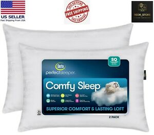 Serta Perfect Sleeper Comfy Sleep Bed Pillow, 2 Pack Standard/Queen