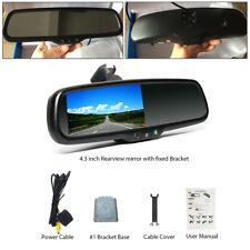 """RV Car 4.3"""" Dimming TFT LCD Rear View Mirror Monitor+Rear Camera Night Vision"""