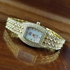 New Nolan Miller Glamour Collection Gold Swarovski Crystal Bracelet Watch