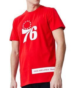 Philadelphia 76Ers New Era NBA Block Wordmark Red TShirt