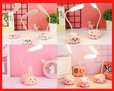 LED Lamp Children Cute Desk Bedside Table Lamp Study Home Decor Christmas Gift