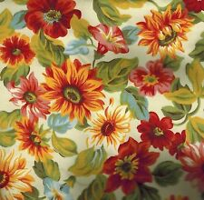 Longaberger Lunch Box Basket FABRIC LINER ONLY - SUNFLOWER - Pretty - NEW!