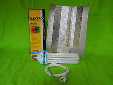 Elektrox Set 200 W Dual Energiesparlampe + Reflektor + Kabel ESL CFL 2100K