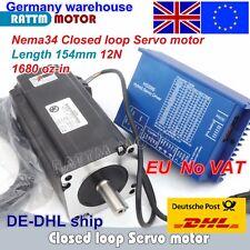 【Eu】 Nema34 12N.m 154mm Stepper Servo Motor Closed Loop+HSS86 Driver 200KHz CNC