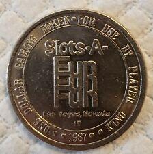 1.00 Slot's A Fun Casino Token 1987 Las Vegas NV