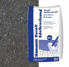 (0,42€/1kg) Basalt Edelbrechsand 25 kg Sack Fugensand feiner Sand Basaltsplitt