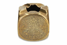 A vintage cube shaped brass ashtray Possibly Indian
