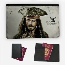 Jack Sparrow Pirate Hat Porta Pasaporte Estuche Cubierta con tapa de protección de viaje