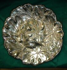 Vintage Ranleigh Silverplate Tray/Candy or Nut Dish, Grapeleaf Pattern