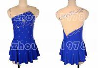Competition Figure Skating Dress Girls Ice Skating Dresses Custom Spandex blue