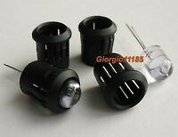 100pcs 10mm Black Plastic LED Holders Case Cup Mounting