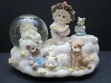 Dreamsicles Cherub Musical Snow Globe, Brahms Lullaby, Cast Art