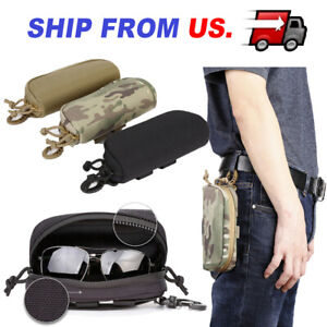 Tactical MOLLE Sunglasses Pouch Riding Glasses Box Eyeglasses Case Eyewear Carry