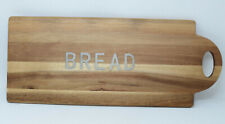 Certified International Acacia Wood Bread Board with Metal Word