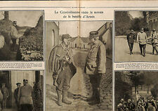 Bataille Artois Général Joffre Maréchal Foch Field Marshal John French 1916 WWI