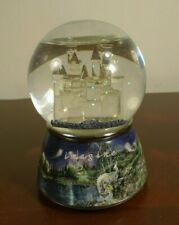 "Mimi Jobe Imagine Dream Castle Porcelain Musical Waterglobe ""From a Distance"""