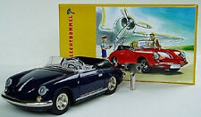 wonderful tinplate modelcar PORSCHE 356C CONVERTIBLE - darkblue - scale 1/32