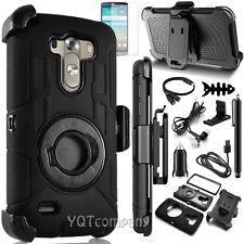 New For LG G3 Black Defender Series Shell Cover Case+Holster Belt Clip Accessory