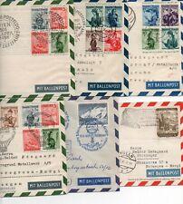 AUSTRIA: Lot 6 Ballon mail postal stationery 1956-58.