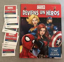 MARVEL LECLERC Deviens un Hero Disney 2020 COLLECTION COMPLETE 144 Images+ALBUM