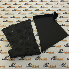 Land Rover Defender 90 Black 3mm Chequer Plate Rear Wing Protectors - Bearmach