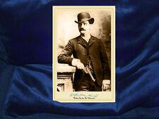 BAT MASTERSON Cabinet Card Photograph Legend Old West Vintage CDV