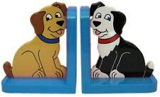 DOG IN BLU IN LEGNO REGGILIBRI-HAND MADE IN UK