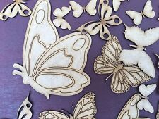 HUGE Butterfly Bundle 70 pieces Mural / Nursery Decoration 2mm Wooden MDF