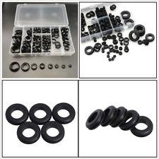 200 Pcs 8 Size Rubber Car Truck Assortment Grommet Electrical Wire Gaskets w/Box