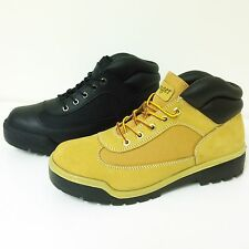 Men's Ankle Boots Leather w Nylon Fashion Comfort Casual Hiking Work Shoe, Sizes