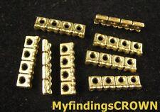 x 4 Barrette de Séparation 3 Trous couleur cuivre