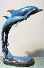 "Laran Ghiglieri ""Dolphins"" Ltd ed Bronze Sculpture with polychrome, Make Offer!"