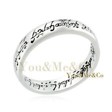 """18k White Gold GP """" Lord of the rings """" Ring Size 9"""