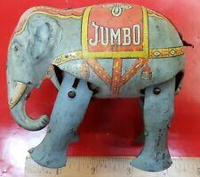 VINTAGE ORIGINAL WORKS TIN WIND-UP ~JUMBO~ WALKING ELEPHANT,, U.S.ZONE GERMANY